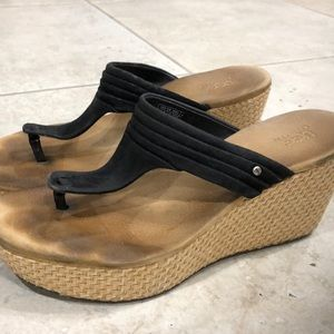 Ugg Wedge Thong Sandals